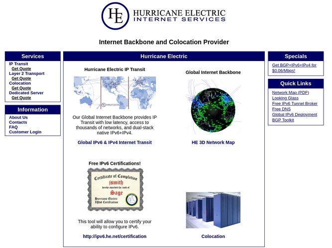 AS6939 Hurricane Electric LLC - bgp tools